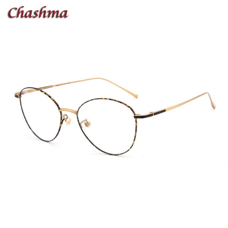 7 G Ultra Light Frame Pure Titanium Large Circle Round Frame Women Gold Vintage Men Optical Glasses Frame Top Quality Eyeglass