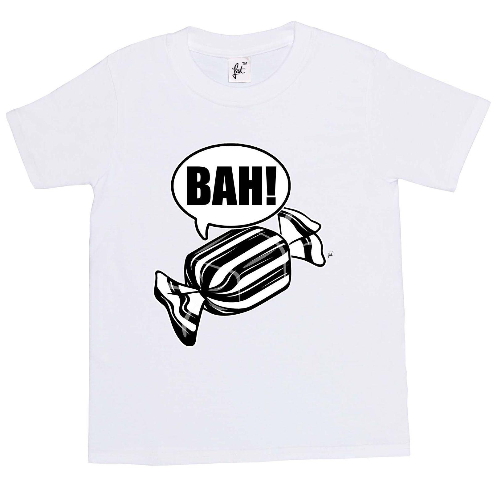 Летняя футболка Новинка мультфильм футболка Бах Вздор! Черные и белые мятные конфеты Рождество Дети мальчики девочек футболка фильм