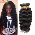 7a Unprocessed Virgin Hair Peruvian Deep Wave 4 Bundle Deals Wet And Wavy Weave Eurasian Virgin Hair Loose Deep Wave Human Hair