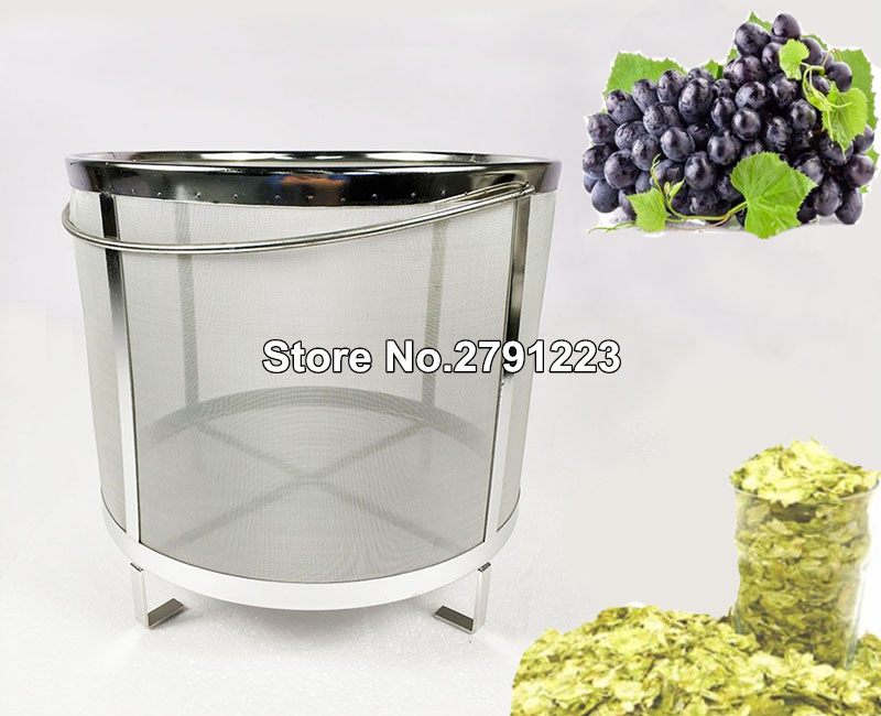 High quality 40 40cm Beer Wine House Home Brew Filter Basket Stainless Steel Strainer Hip Spider