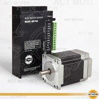 ACT Motor 1PC Nema23 Brushless DC Motor 57BLF02 24V 125W 3000RPM 3Phase Single Shaft+1PC Driver BLDC 8015A 50V CNC US DE JP Free