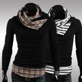 2015 Real Special Offer Covered Regular Standard Solid Mens Sweaters Foreign Wholesale Purchasing Men's Sweater High Neck Sale