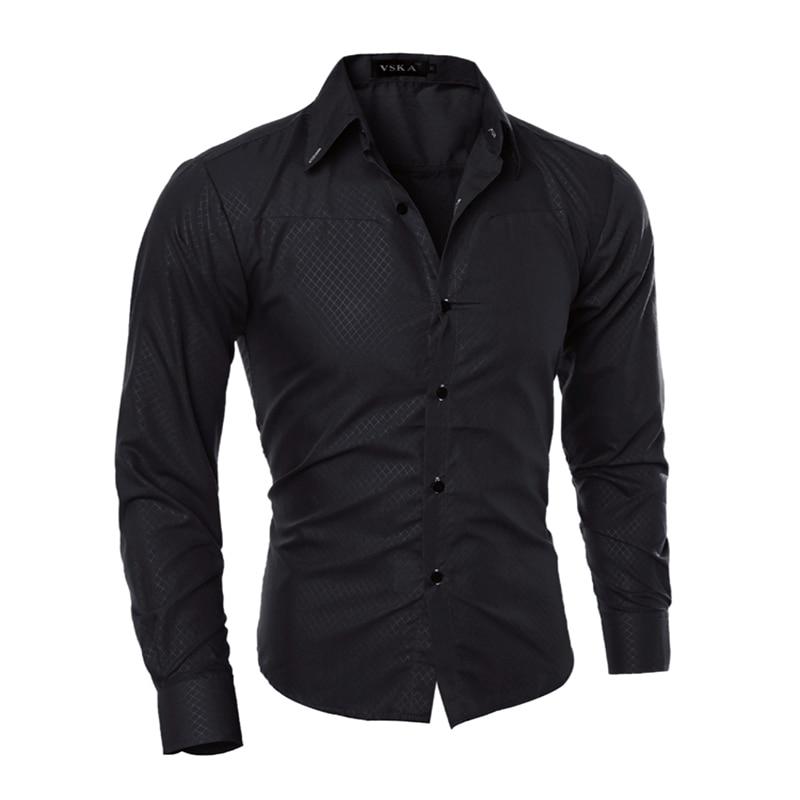 Hombre Vestir 2018 Платья повседневные Slim Fit Мужская сорочка Homme мужчины, heren в Hemden камиза masculina 5XL