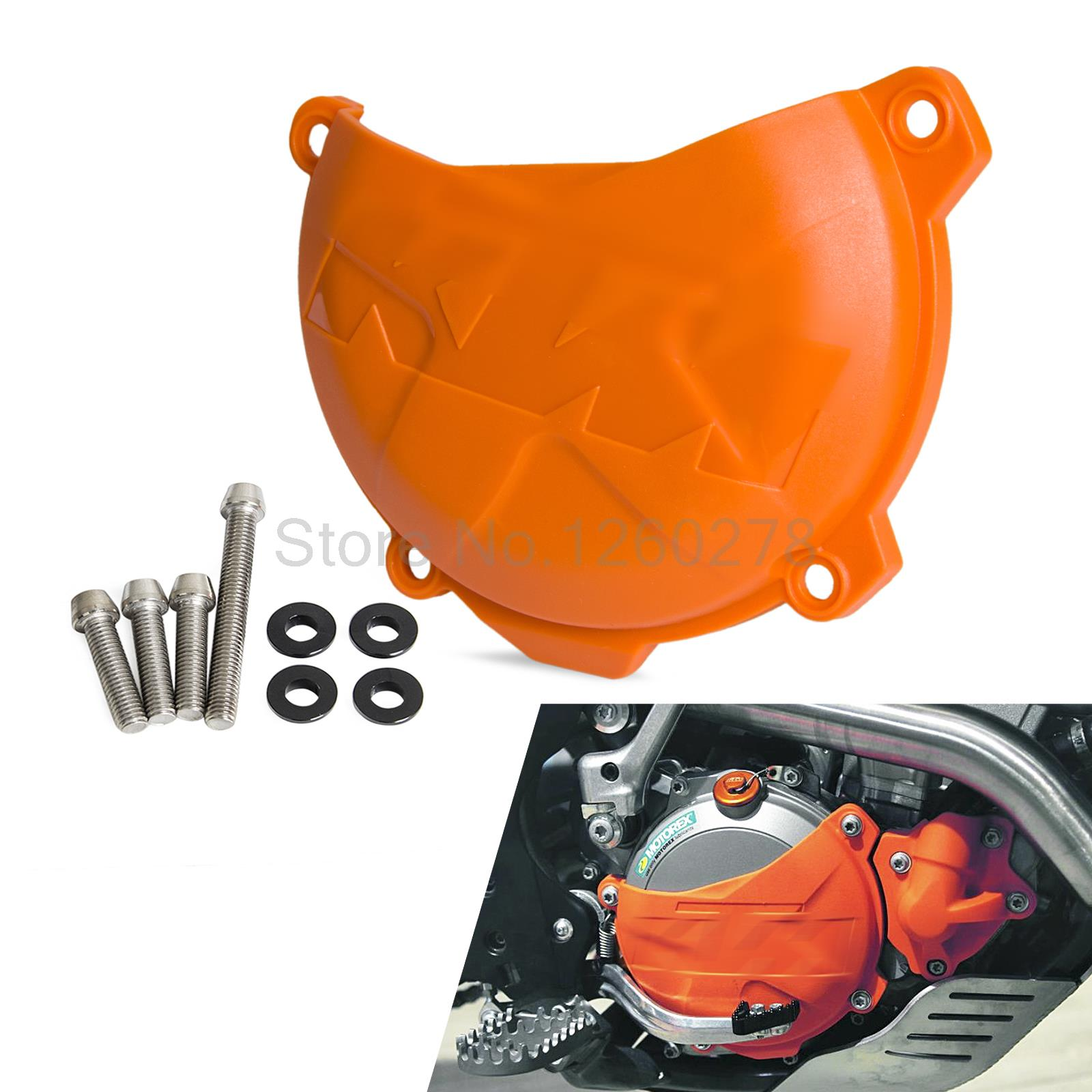 Clutch Cover Protection Cover For KTM 250 350 SX-F XC-F EXC-F XCF-W SIX DAYS  FREERIDE 350 2012-2016 Motocross Enduro Supermoto orange cnc billet factory oil filter cover for ktm sx exc xc f xcf w 250 400 450 520 525 540 950 990
