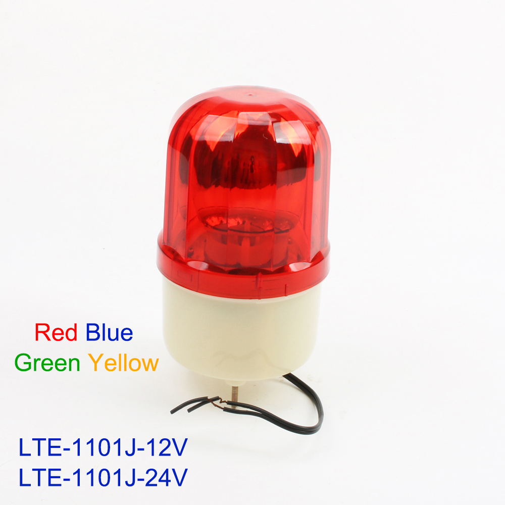 DC12V 24V Red Yellow Green Blue Rotating Warning Light Lamp  Warning Light Beacon For Industrial LTE-1101J Lighting With Buzzer