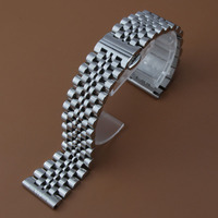 Polished and matte Stainless steel Watchbands Straps Straight end for BRAND Quartz watches mens ladys hours 18MM 20mm 21mm 22mm