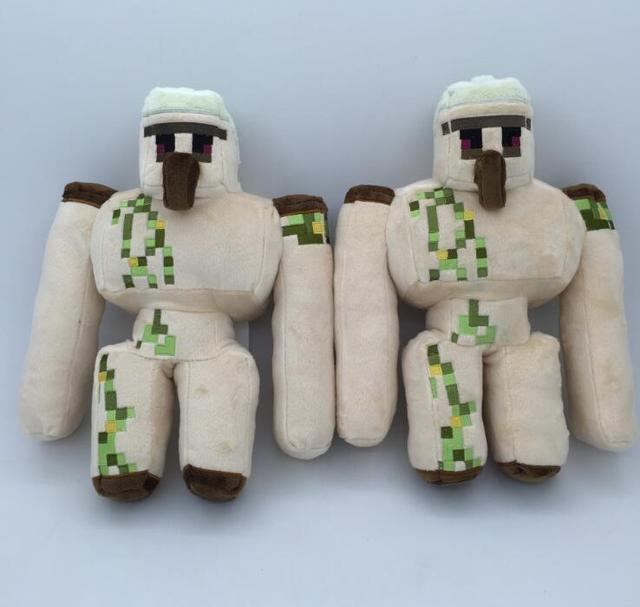 5pcs/lot 2017 New 36cm Iron Golem Minecraft Stuffed Toy Action Figure Kids Plush Toys Doll For Gift 0.27kg Free Shipping