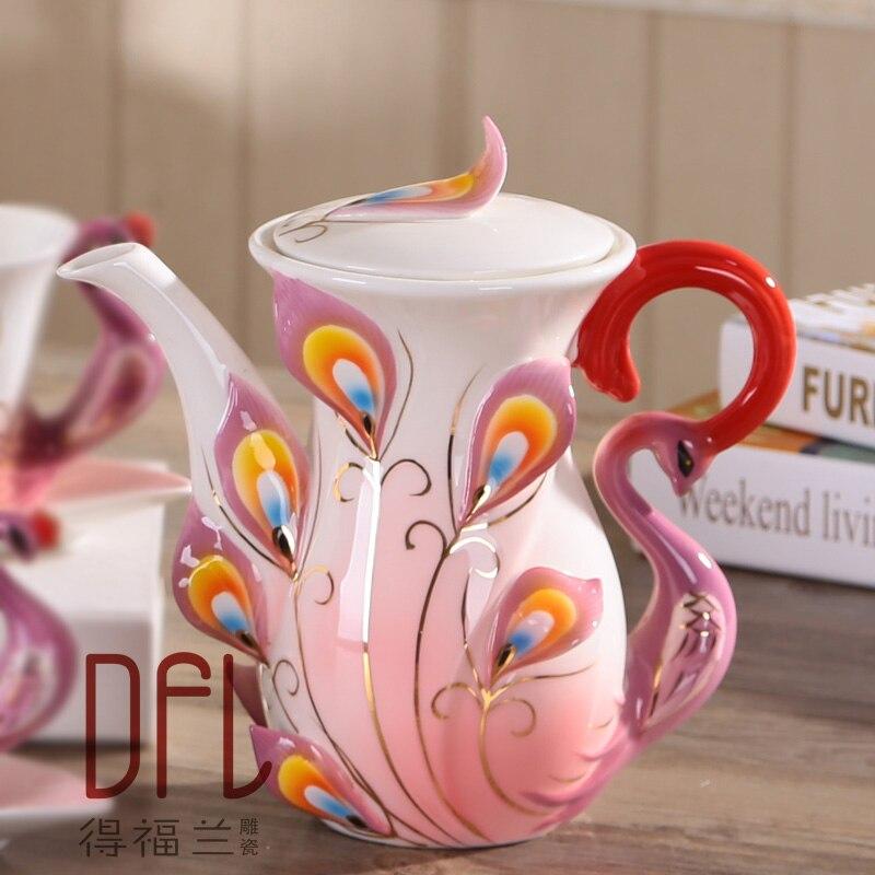 1 ST Creatieve Pauw Theepot Europese Koffie Thee Set Keramische Waterkoker-in Theepotten van Huis & Tuin op  Groep 1
