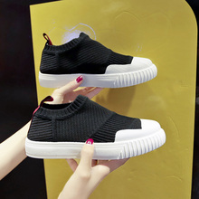 Women Shoes 2019 Fly Knit Sneakers Breathable Shoes Casual Slip on Flats  Ladies Sock Shoes Trainers Summer Tenis Trainers недорого