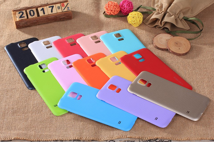 Ultra thin Battery Cover Case for Samsung Galaxy S5 Non slip Design Solid Color Fundas Slim