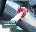 FOR honda 2015new CRV CR-V aluminum key engine start/stop button on/off surround trim 1p red/blue