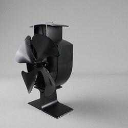 Envío Gratis estufa de madera Eco ventilador-accionado con calor 4 hojas ventilador de chimenea para una distribución eficiente del calor