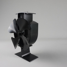 Free Shipping Wood Stove Eco Fan - Heat Powered  4 blade Blade Fireplace Blower Fan for Efficient Heat Distribution цена