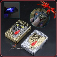 3 in 1วัตต์/กล่องของขวัญ+ LED G Adget C Oolสัตว์เสือแบบอิเล็กทรอนิกส์W Indproofซิการ์บุหรี่USBชาร์จเบา