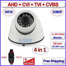 4in1 2.0MP CVI TVI 960H AHD-H mini camera Night Vision AHD camera 1080p, OV2710 CMOS CCTV, OSD, 2MP HD Lens, UTC, IR-CUT, WDR