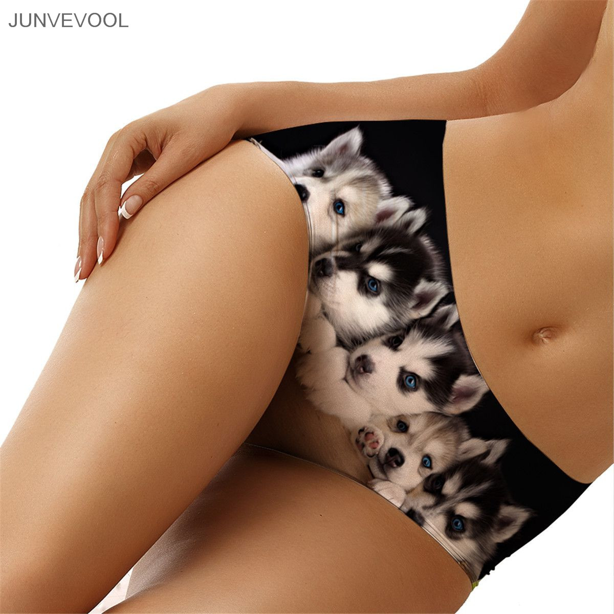 30539d5df بيع مثير النساء سراويل ملخصات الملابس الداخلية 3D الوشم قطعة واحدة السروال  المرأة السراويل 2017 الكلب طباعة كلسون سراويل الملابس الداخلية