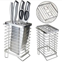 Knife Block Without Knives. Knife Storage Organizer and Holder