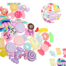 30pcs Candy Flatbacks Cute Crafts Colorful Accessories Jewelry DIY Scrapbooking Slime Beads Ornament Making Supplies Filler(China)