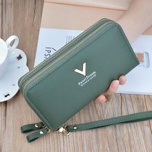 Phone Purses Women Wallets Big Female Purse Leather Brand Re