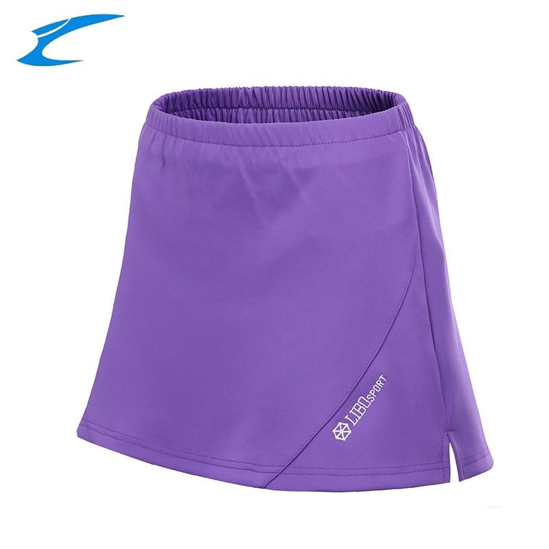 LIBO Professional Women Tennis Skorts Breathable Sports Skirts Lady Tennis Training Clothing Solid Gym Tennis Badminton Shorts