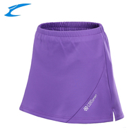 LIBO Professional Women Tennis Skorts Breathable Sports Skirts Lady Tennis Training Clothing Solid Gym Tennis Badminton Shorts