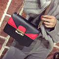 Antbook Fashion Pu Leather Small Women Bag Stitching Geometry Women Messenger Bags Chain Summer Smple Girls Shoulder Bags