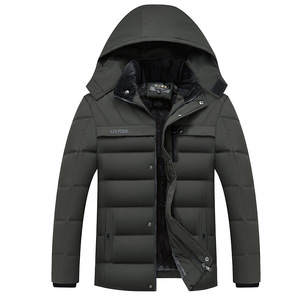 Image 5 - Dropshipping 2020 Hot Fashion Hooded Winter Jas Mannen Dikke Warme Heren Winter Jas Winddicht Vader Gift Parka