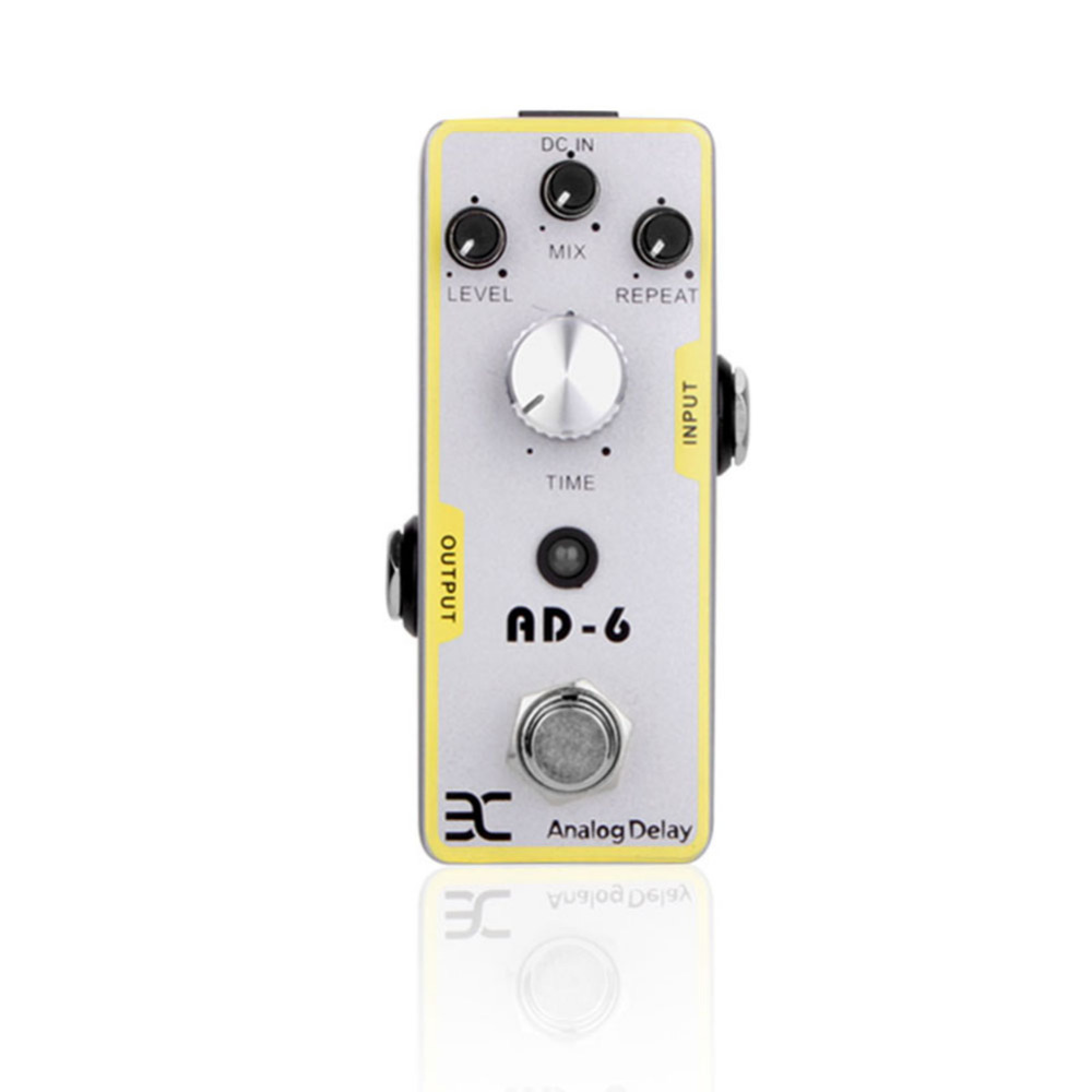 Electric Effects Digital Delay Time Guitar Effects Pedal Mini Analogue Effect True Bypass for Electric Guitar Effects Pedals amo 3 mario bit crusher electric guitar effect pedal aroma mini digital pedals full metal shell with true bypass