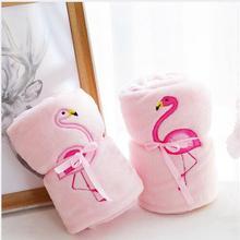 WYZHY одеяло в рулоне фламинго, кондиционер, одеяло, плюшевая игрушка, кукла, прикроватное украшение, отправка друзьям и детям, подарки 100 см