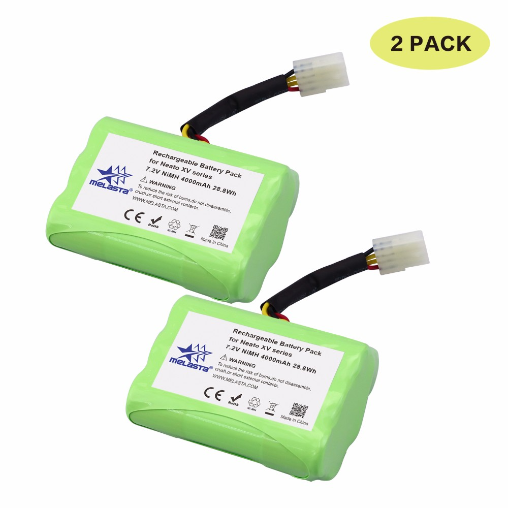 Melasta 2Pack 7 2V 4Ah NIMH Battery for Neato XV 21 XV 11 XV 14 XV