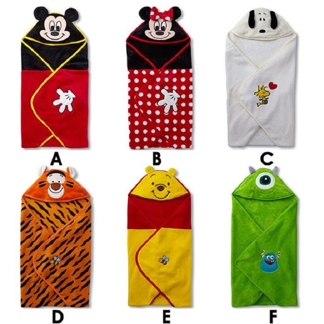 Free Shipping baby Sleeping Bag Sleepsacksparisarc Infant Child swaddle conjoined clothes Baby Wrap cotton blankets Mickey robe