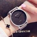 Gimto populares relojes de las mujeres de cuero de cuarzo mujer vestido reloj casual reloj de señoras amantes reloj relogios montre reloj mujer