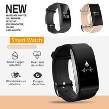 I6 плюс Smart Band спортивные часы сердечного ритма Мониторы Приборы для измерения артериального давления обнаружения оксиметр мониторинга браслет с удаленной камеры