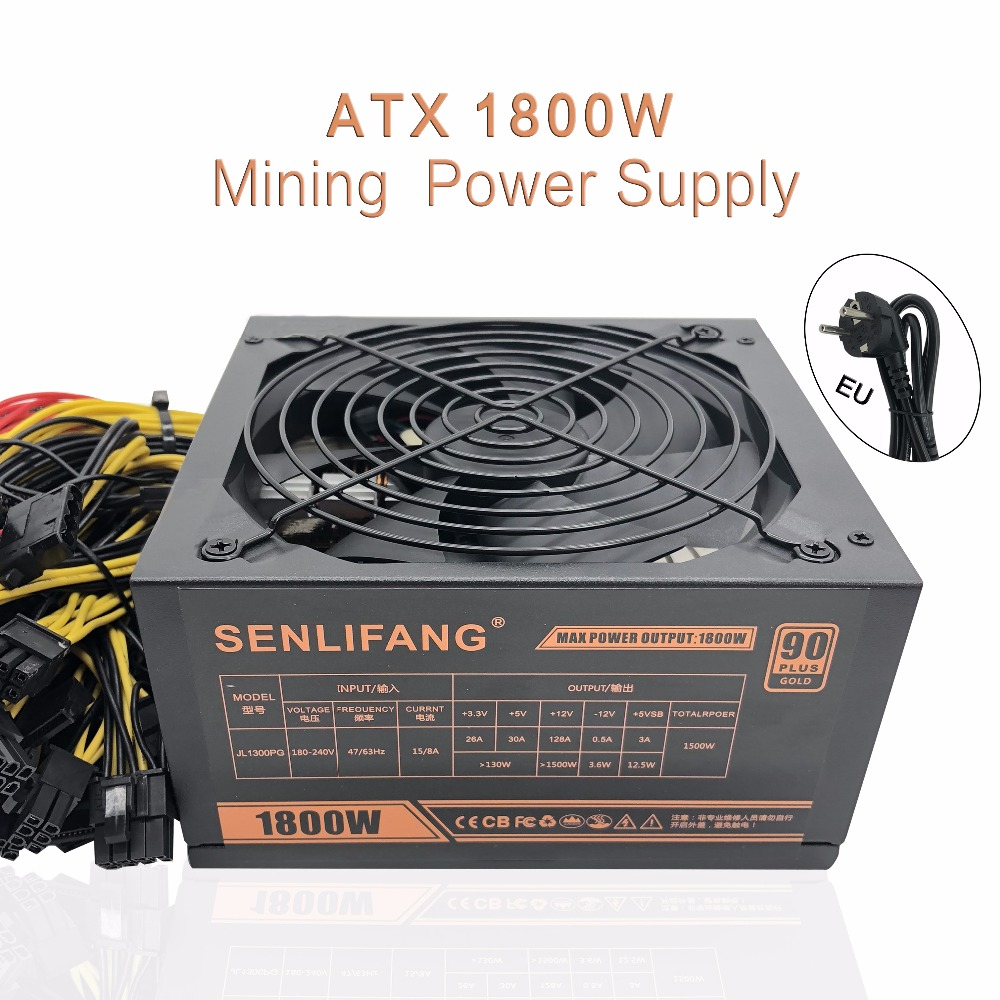 New original Gold POWER 1800W Ethereum ETH power supply for R9 380 RX 470 RX480 6 GPU CARDS 6 months warranty free shipping new original gold power 1800w ethereum eth power supply for r9 380 rx 470 rx480 6 gpu cards 6 months warranty free shipping
