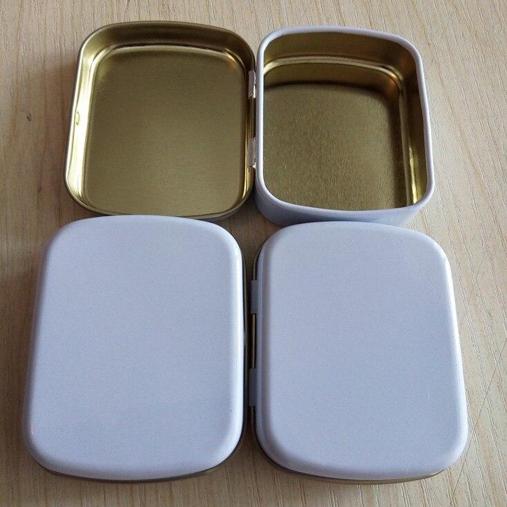 Бесплатная доставка + Оптовая маленький размер петли жестяной коробке квадратный олово серебро жестяной Подарочная коробка уплотнения пло...