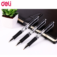 Deli 3PCS Gel pen 3 Pcs 0.7mm Office supplies Stationery gel pens for students writing Black High quality refills