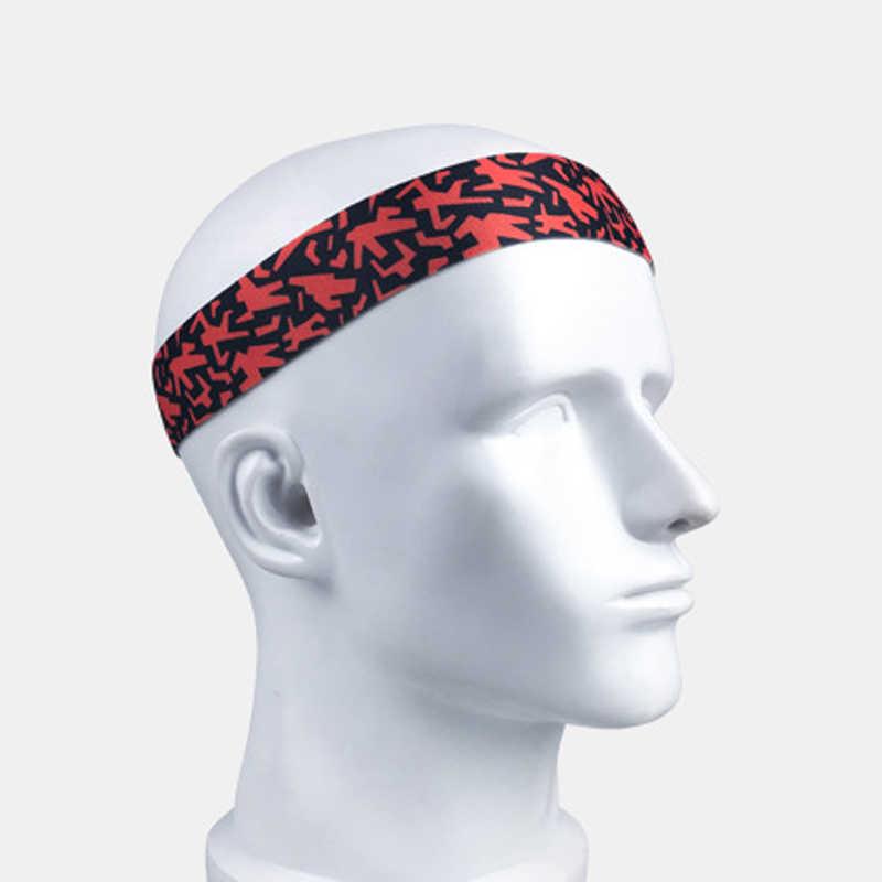 Bandeau Sport antidérapant cheveux sueur bandeau Tennis basket-ball Yoga bandes respirantes Camouflage Fitness entraînement hommes femmes