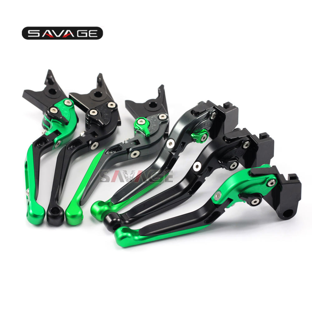 For KAWASAKI Z650 Z900 2017-2018 Motorcycle CNC Aluminum Adjustable Folding Extendable Brake Clutch Levers billet adjustable long folding brake clutch levers for kawasaki z750 z 750 2007 2008 2009 2010 2011 07 11 z800 z 800 2013 2014
