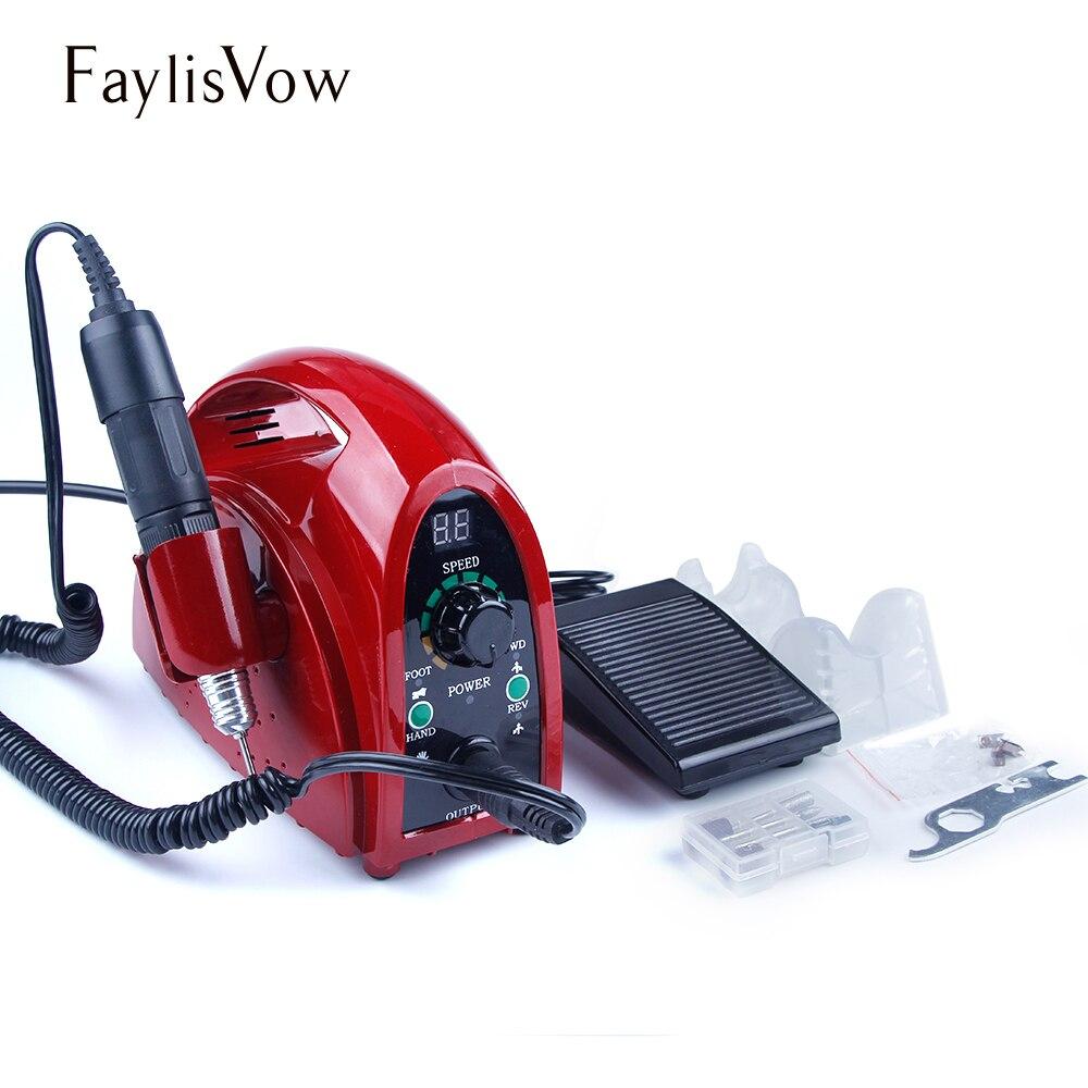 65 W Apparecchio per Manicure Pedicure Nail Art Frese Punte Nail Drill Set Professionale 35000 rpm Elettrico Manicure Macchina