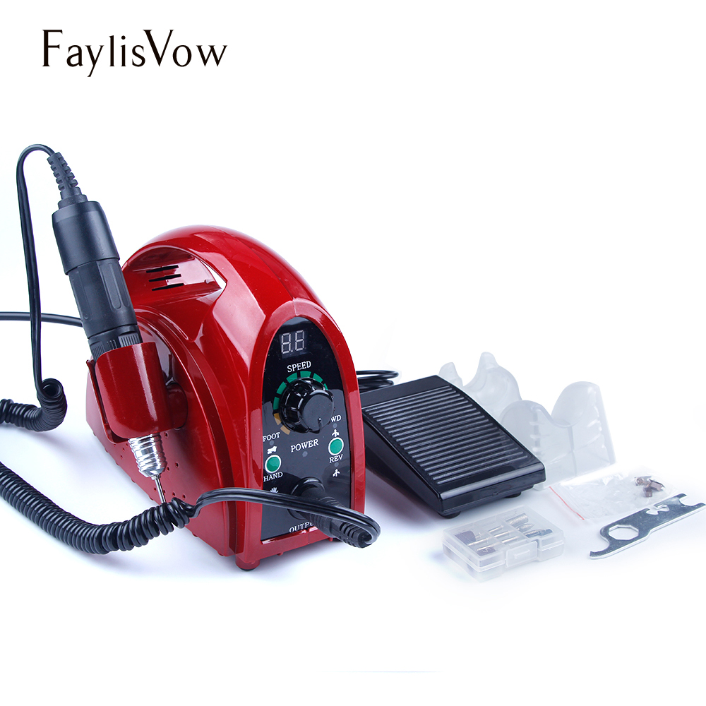 65W Apparatus for Manicure Pedicure Nail Art Milling Cutters Nail Drill Bits Set Professional 35000rpm Electric Manicure Machine ceramic nail art tools milling cutter for manicure pedicure nail drill apparatus rotary manicure device set of milling cutters