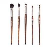 5pcs Travel Portable Mini Eye Makeup Brushes Set Reals Eyeshadow Eyeliner Eyebrow Brush Lip Make Up Brushes kit Professional