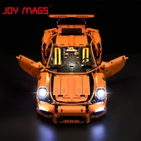 JOY MAGS Led Light Kit For TECHNIC Porsche 911 GT3 RS Building Lighting Set Compatible With
