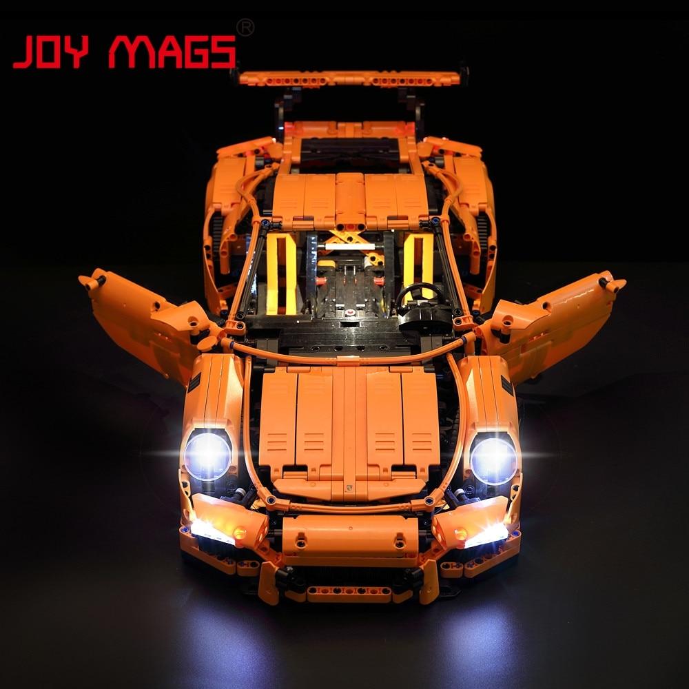 JOY MAGS Led Light Kit For TECHNIC Porsche 911 GT3 RS Building Lighting Set Compatible With Lego 42056 20001 Excluding Model внешний жесткий диск lacie stet2000400 porsche design 2tb серебристый stet2000400