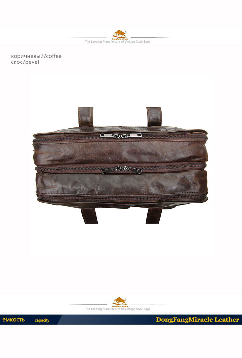 New first layer of leather multi-function handbag men Messenger bag genuine leather business man bag Briefcase Laptop