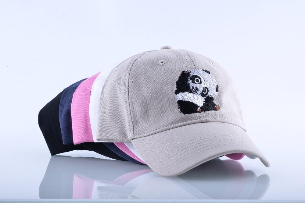 Panda borduurwerk Snapback baseball cap Mannen Cappelli Hip Hop hoed voor vrouwen Solid Cotton Daddy Hats Unisex skateboard botten