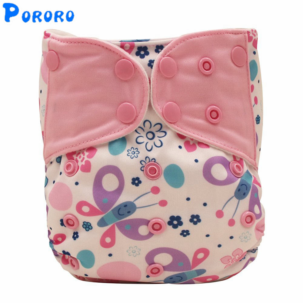 Baby Reusable Cloth Diaper Cover Pocket Fitted Diaper  Baby Girl Boy Cloth Nappies Digital Diaper