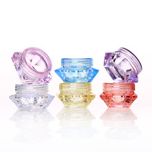 10Pcs Cosmetic Sample Empty Container Plastic Clear Cosmetic Pot Jars for Eye Shadow, Nails, Powder, Jewelry Bottle