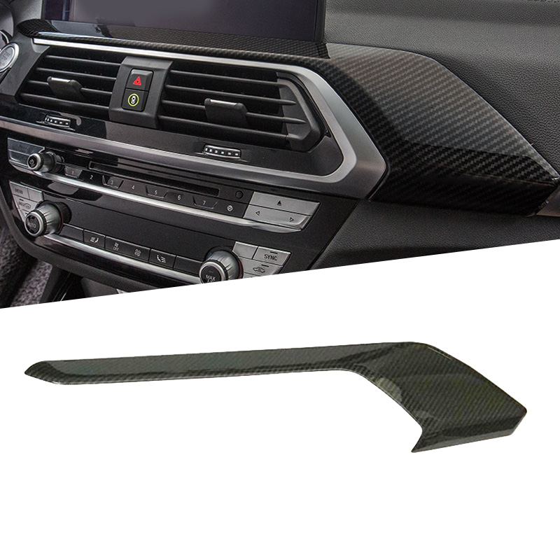 1pcs ABS Interior Dashboard Cover Strip Trim For BMW X3 G01 2018 Car Styling Accessories Left Hand Drive Only interior vent outlet cover trim 7pcs for lexus rx200t rx450h 2016 left hand drive car