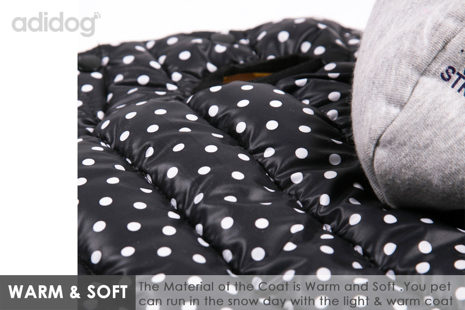 Hot Sales Pet Dog Jacket Coat Winter Clothe Waterproof Warm Fashion Hat for Small Medium Pet S -XXL White Black Yellow 3
