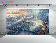 SHENGYONGBAO Art Cloth Custom Photography Backdrops Cartoon theme Photo Studio Props horizontal Photography Background JND-13 цена